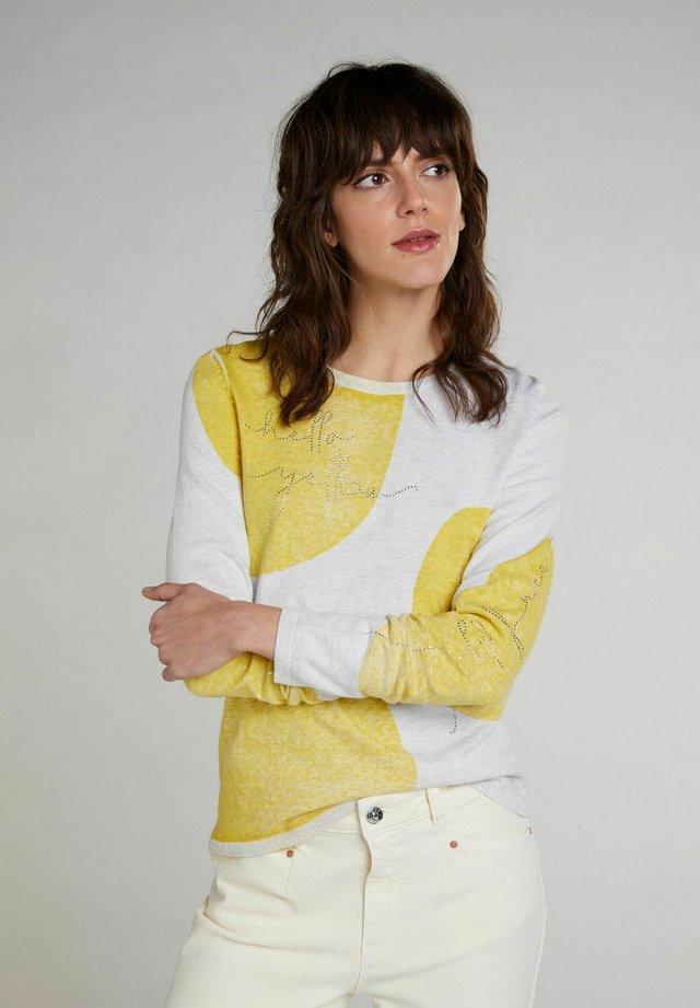 Trui - lt grey yellow