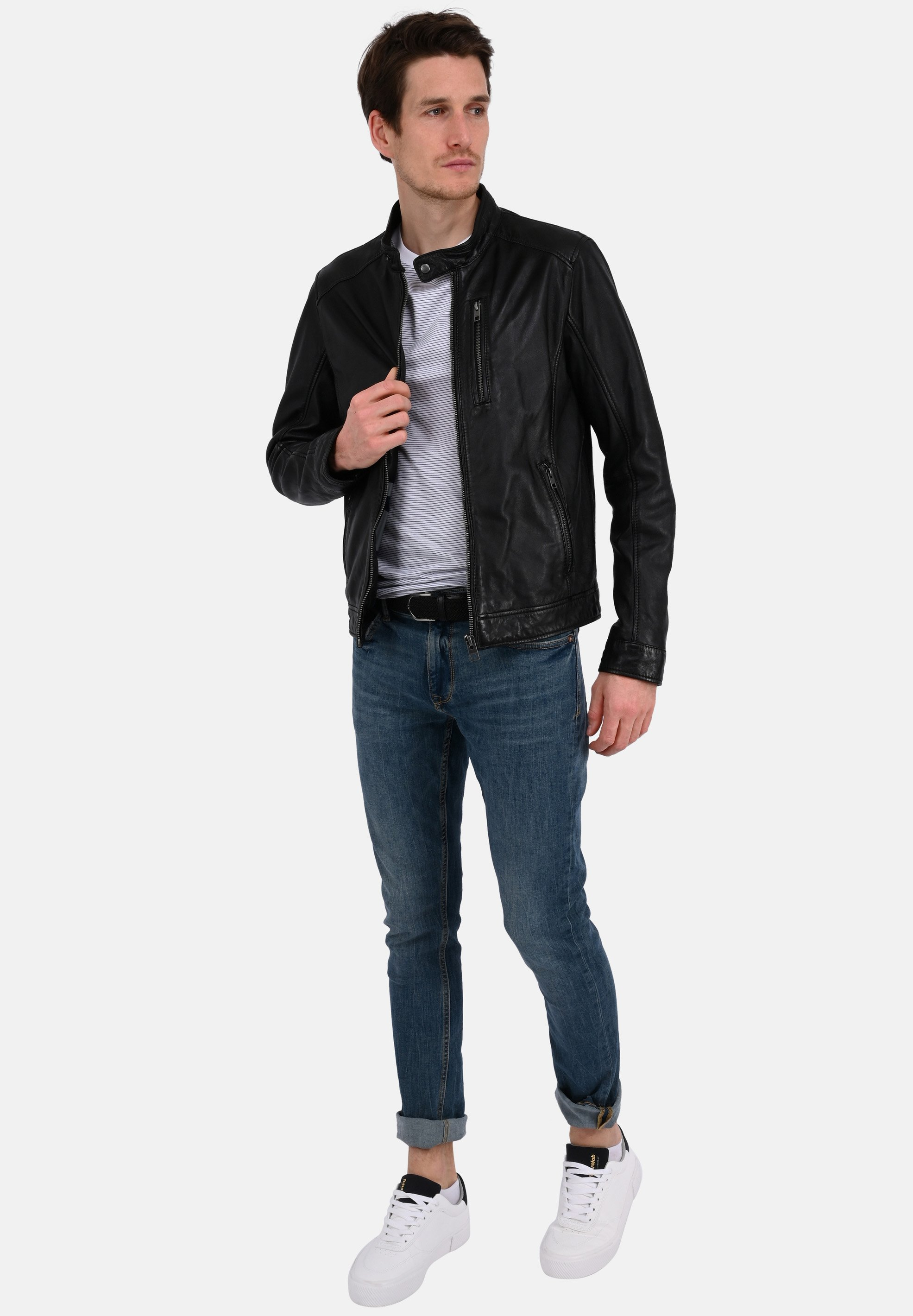 Men AGENT - Leather jacket
