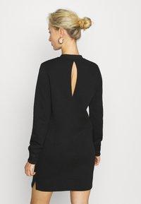Calvin Klein Jeans - CUT OUT BACK DRESS - Day dress - black - 2