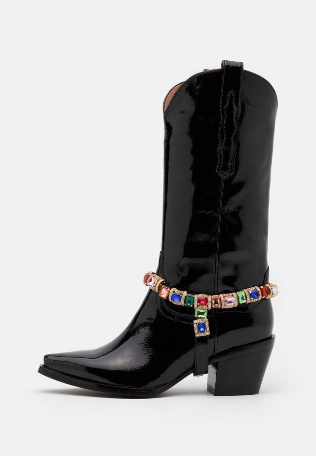 DAGGET - Kovbojské/motorkářské boty - black