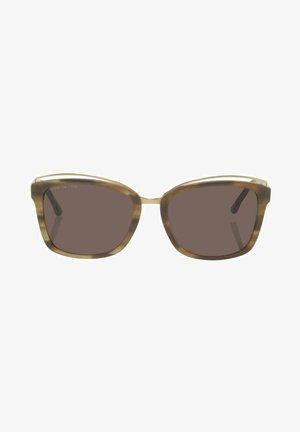EYEWEAR WAYFARER MIT BREITEM RAHMEN - Sunglasses - brown structure/gold
