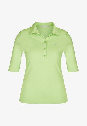MIT UNIFARBENEM STOFF UND GLITZERSTEINEN - Polo shirt - green