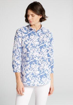 DREIVIERTELARM MODERN CLASSIC - Button-down blouse - hellblau/weiß