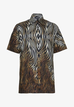 SHORT SLEEVE ANIMAL PRINT - Košile - black,/brown