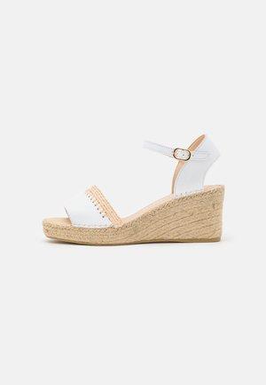 INES - Platform sandals - oslo blanco
