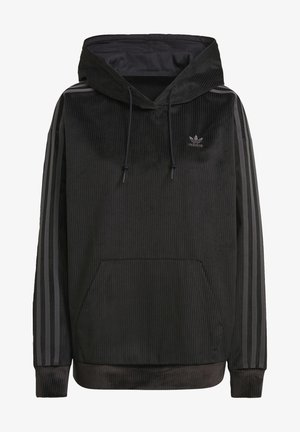 SPORTS INSPIRED HOODED SWEAT - Hoodie - black
