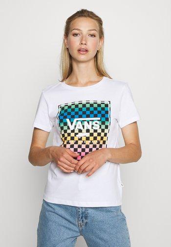 VINTAGE CHECK BOX - T-shirt med print - white