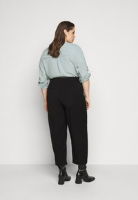 Kaffe Curve - KCMETA PANTS SUITING - Trousers - black deep - 2