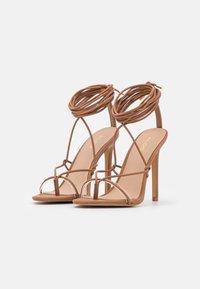 ALDO - GLAOSA - T-bar sandals - cognac - 2
