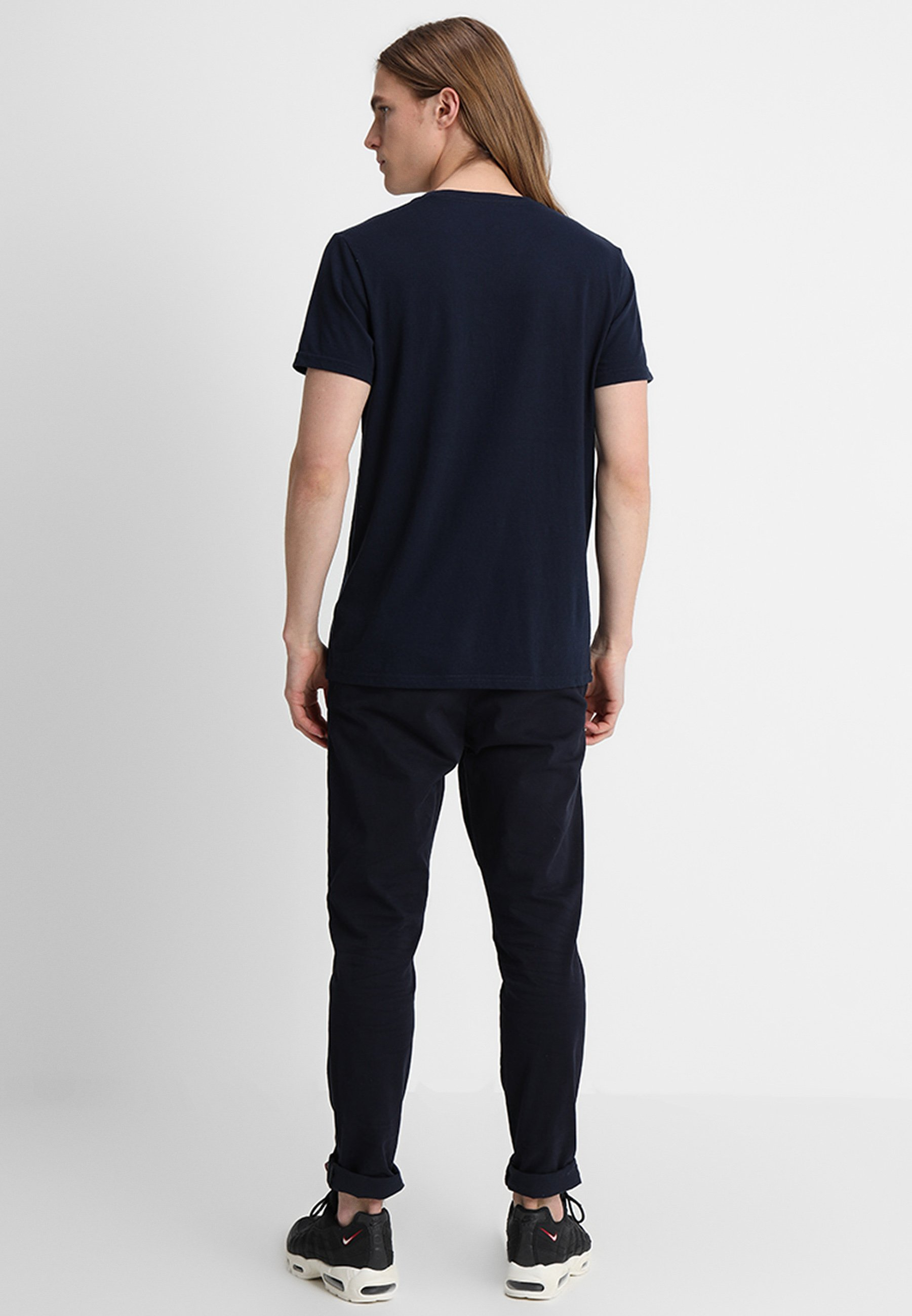Hollister Co. Crew 3 Pack - T-shirts Navy/burgundy/grey/mørkeblå