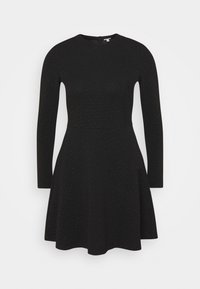 edc by Esprit - FIT AND FLARED - Day dress - black - 0