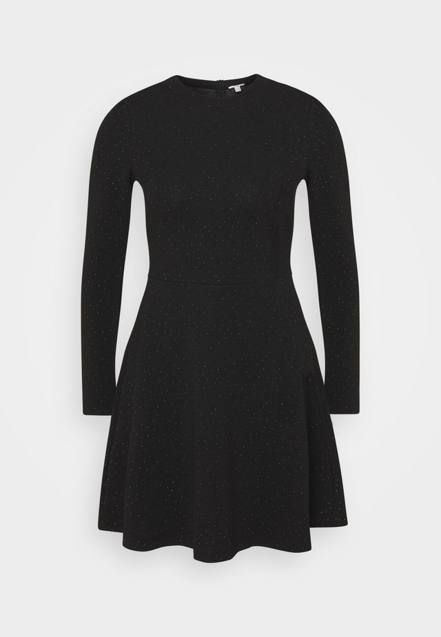 FIT AND FLARED - Day dress - black