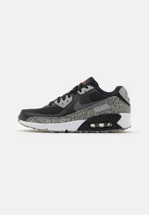 AIR MAX 90 UNISEX - Sneakersy niskie - black/smoke grey/light smoke grey/white/bright crimson