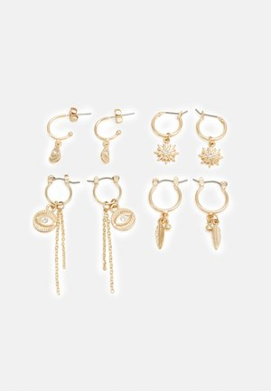 PCLABY EARRINGS 4 PACK - Øredobber - gold-coloured
