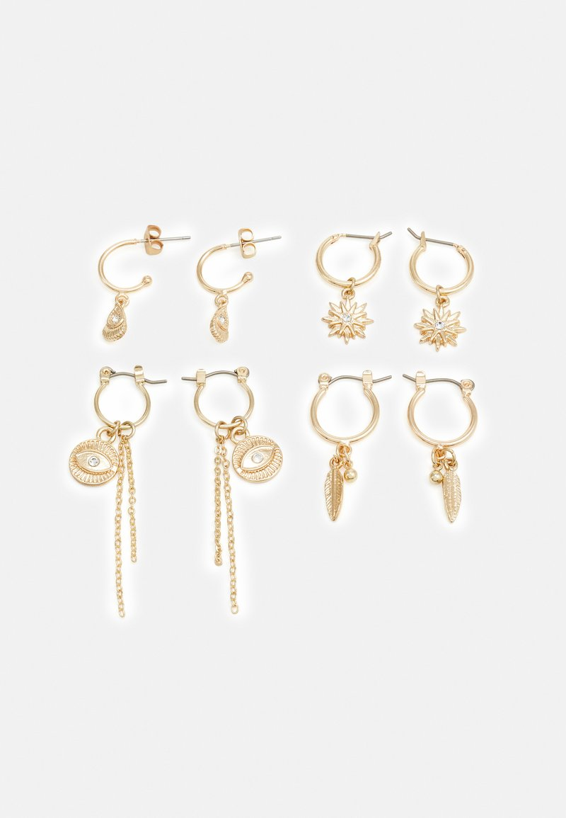 Pieces - PCLABY EARRINGS 4 PACK - Oorbellen - gold-coloured