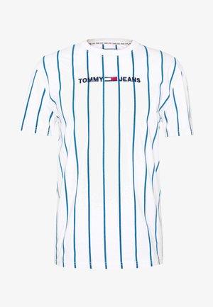 VERTICAL STRIPE LOGO TEE - Print T-shirt - white/audacious blue