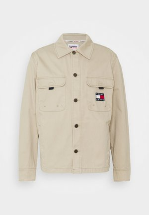 BACK GRAPHIC OVERSHIRT UNISEX - Summer jacket - soft beige