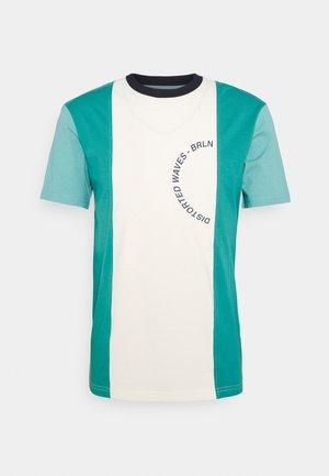 UNISEX - Print T-shirt - white/dark blue