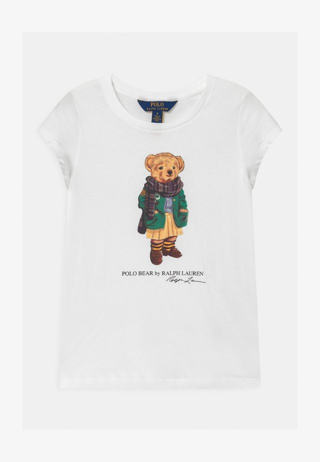 BEAR - T-shirt z nadrukiem - white