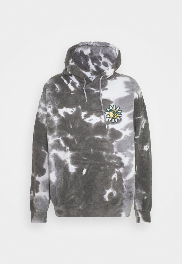 DAISY CHEST PRINT HOODIE - Sweatshirt - grey