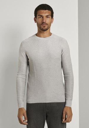 Pullover - light stone grey melange