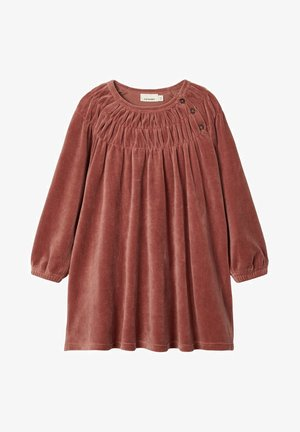 Korte jurk - mahogany