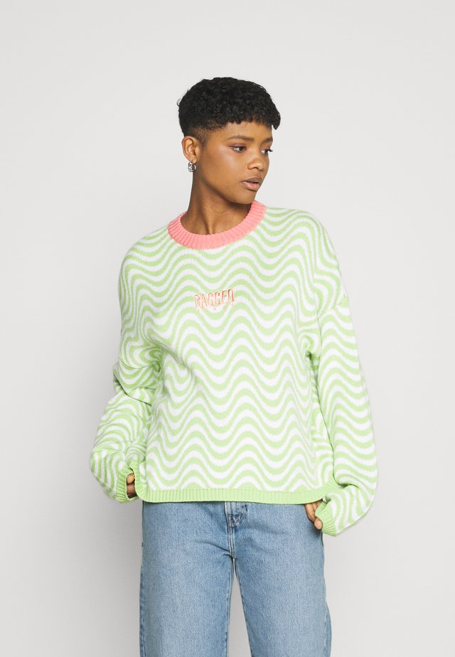 RADIO - Pullover - lime/white