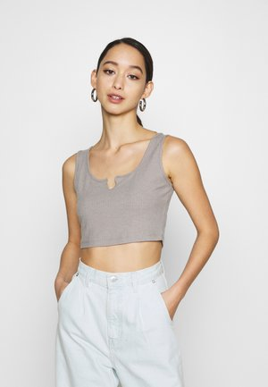 NECK DETAIL SINGLET - Top - grey