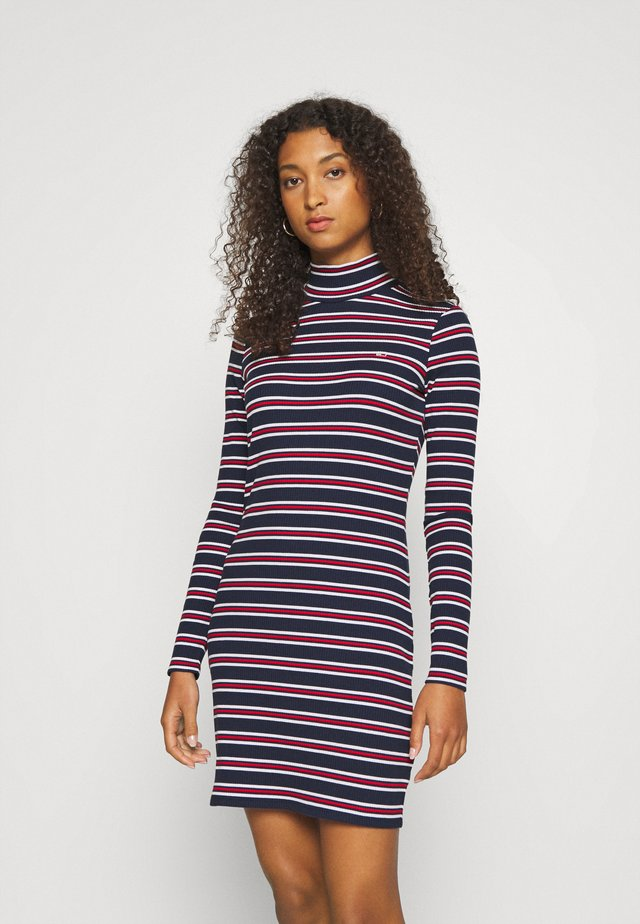 STRIPE DRESS - Jersey dress - twilight navy