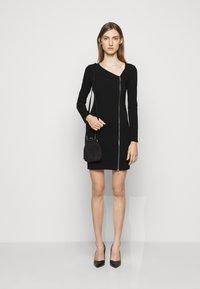 Patrizia Pepe - ABITO DRESS - Jersey dress - nero - 1