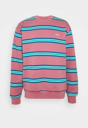 IDEALS STRIPE CREW - Mikina - mesa rose/multi