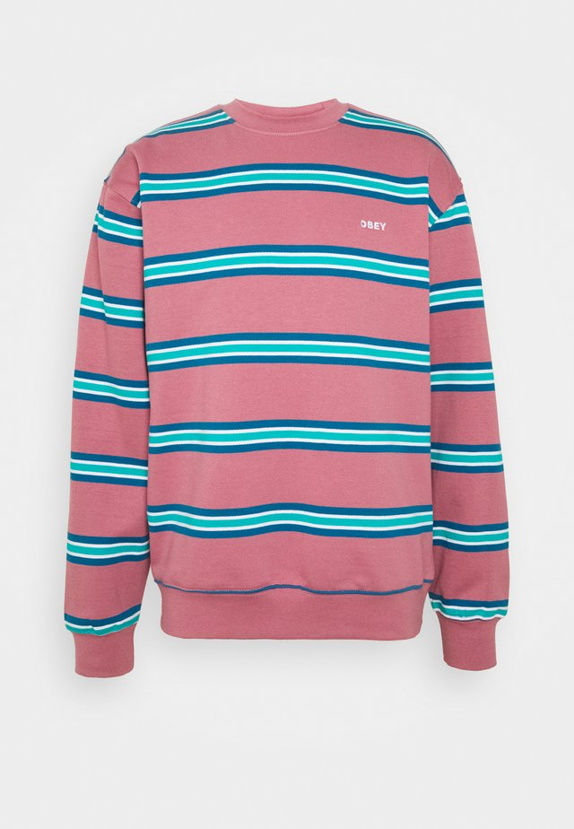 IDEALS STRIPE CREW - Sweatshirt - mesa rose/multi