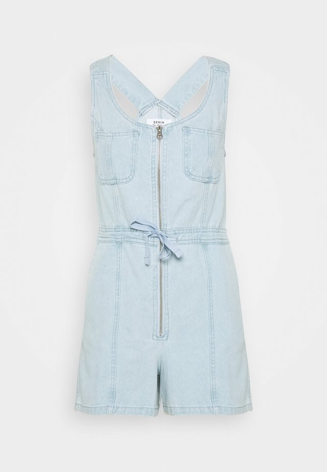 TIE WAIST PLAYSUIT - Dungarees - denim
