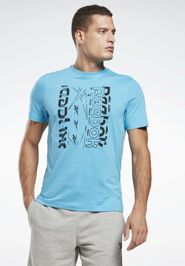 VECTOR GRAPHIC - T-shirt imprimé - turquoise
