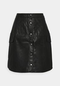 VMLOVING ABOVE KNEE COATED SKIRT - A-line skirt - black