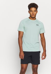 Under Armour - TECH NOVELTY - Basic T-shirt - enamel blue - 0