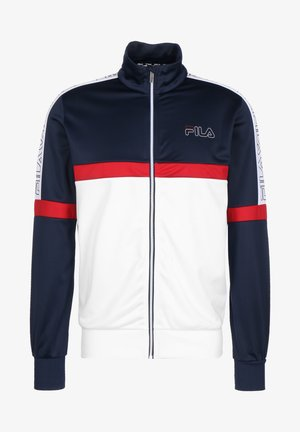 LEO - Training jacket - black iris / bright white / true red