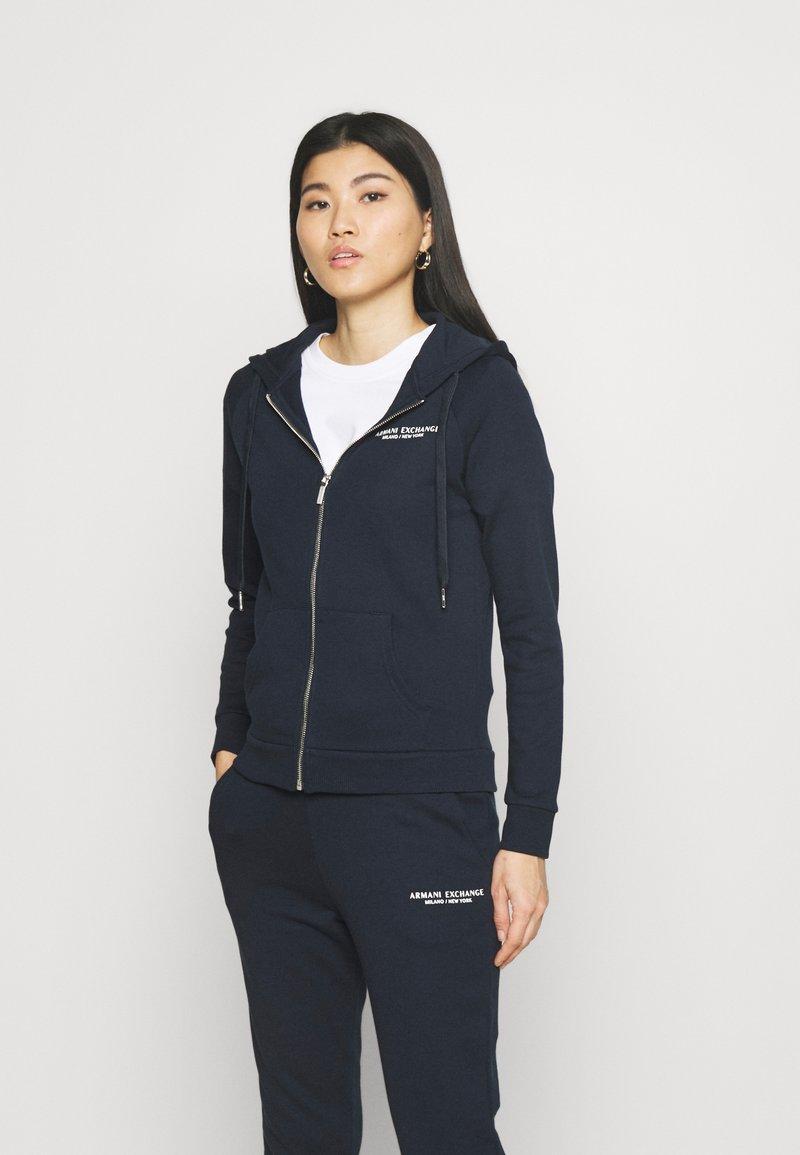 Armani Exchange - FELPA - Zip-up hoodie - navy