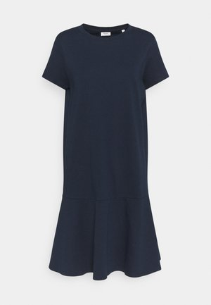PEPLUM DRESS - Jersey dress - scandinavian blue