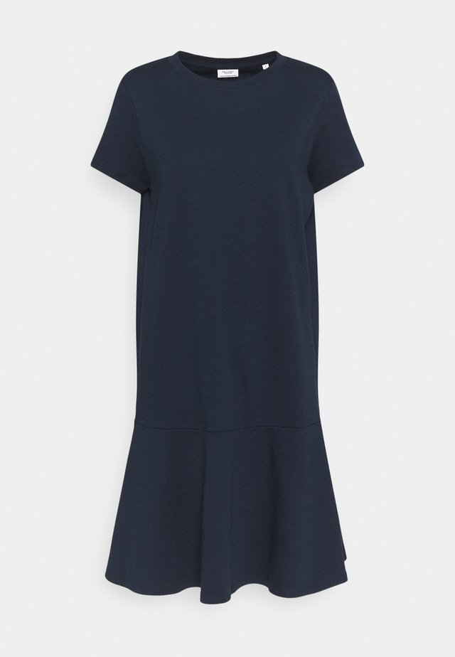 PEPLUM DRESS - Jerseyjurk - scandinavian blue