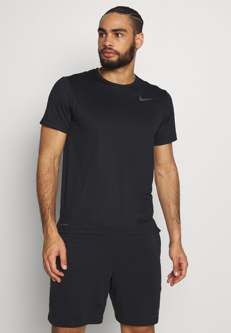 Nike Performance - Basic T-shirt - black/white