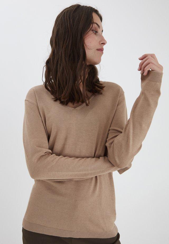 PULZ PZSARA  - Sweter - tannin melange
