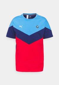 Puma - BMW TEE - Print T-shirt - marina/blue/high risk red - 0