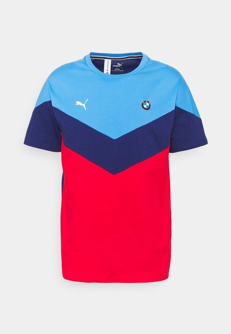 Puma - BMW TEE - Print T-shirt - marina/blue/high risk red