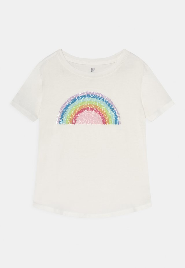 GIRLS INTERACTIVE - T-shirt con stampa - new off white