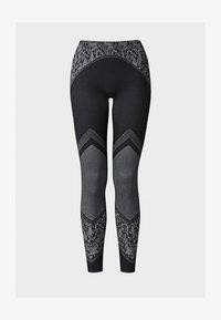 Wolford - CAMERON - Leggings - Stockings - black/white - 2