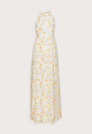 Vestito lungo - white/yellow
