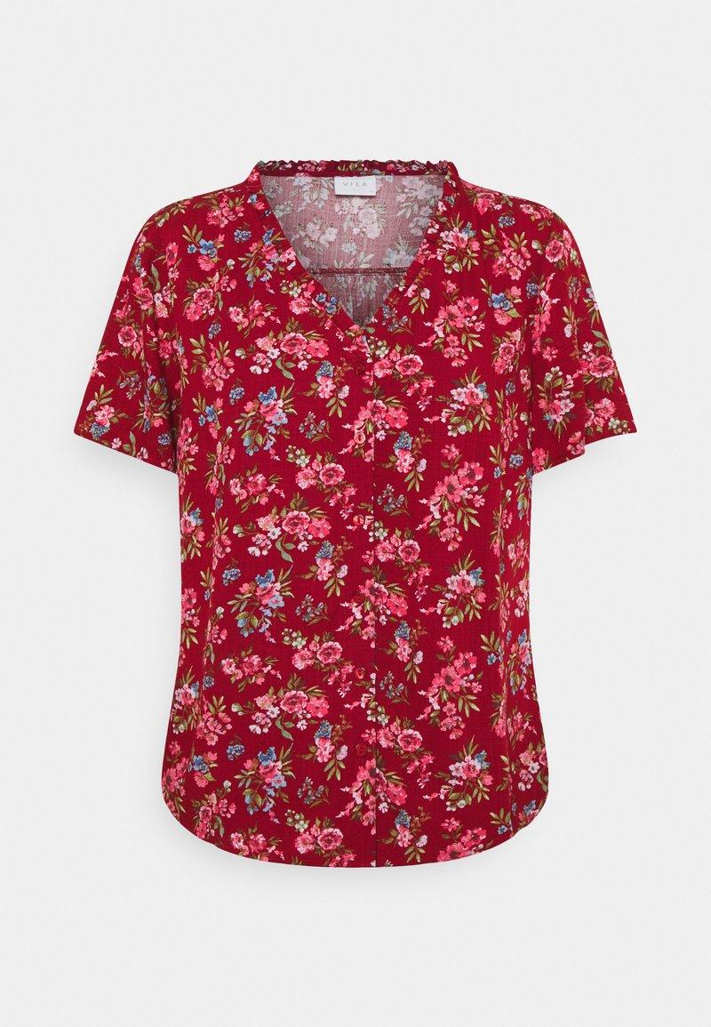 Vila - VICARE - Button-down blouse - burnt henna