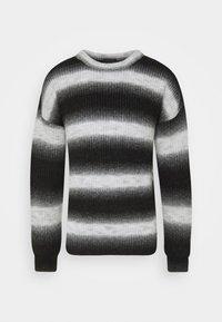 FADE STRIPE CREW NECK - Jumper - black