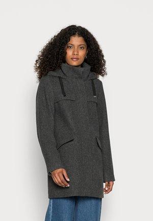 HOOD COAT - Klassinen takki - anthracite